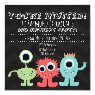 Gigantiska Themed födelsedagsfest inbjudan