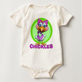 GiggleBellies Chickles hönan Body För Baby