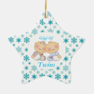 Gigi mormor av gåvan för twillingarstjärnaprydnad julgransprydnad keramik