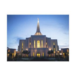 Gilbert Arizona LDS tempel på kanfas Canvastryck
