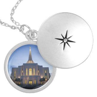 Gilbert Arizona LDS tempelLocket Halsband Med Rund Berlock