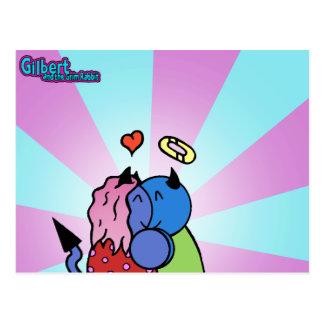 Gilbert och den grymma kaninen - kramvykort vykort