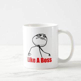 Gilla en chef kaffe koppar