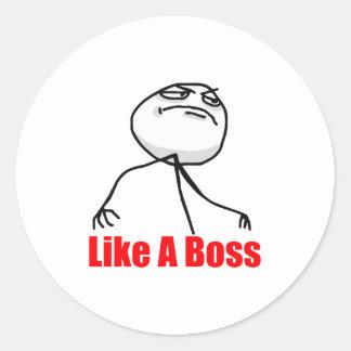 Gilla en chef runt klistermärke