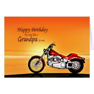 Gilla en morfar, motorcykel i hälsningskort