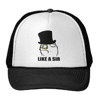 Gilla ett ansikte Meme för herrMonocleursinne Baseball Hat