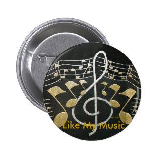 Gilla min musik standard knapp rund 5.7 cm