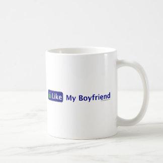 Gilla min pojkvän vit mugg