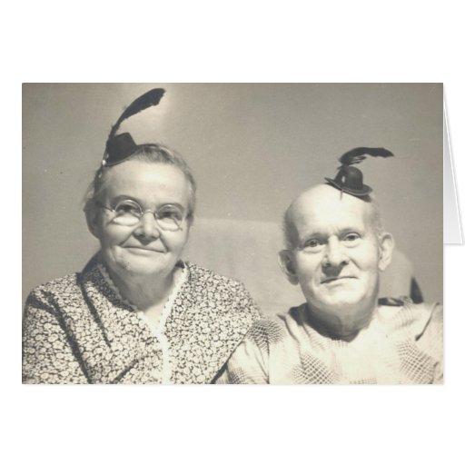 Gilla våra hattar? hälsningskort