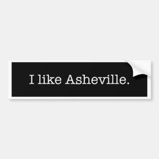 """Gillar jag Asheville."", Bildekal"