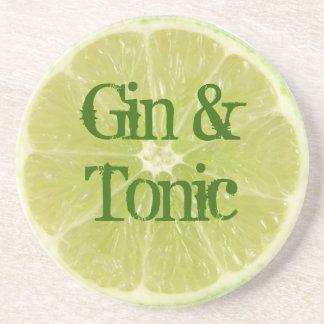 Gin- och tonickustfartyg underlägg sandsten