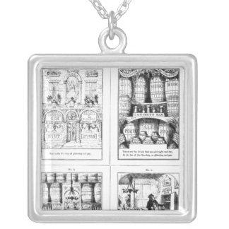 Ginen shoppar silverpläterat halsband