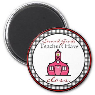 Gingham understöder klassläraremagneten magnet