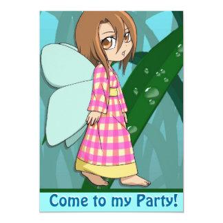 Ginghamfe, kom till mitt party 12,7 x 17,8 cm inbjudningskort