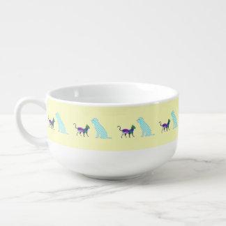 Ginghamhund, Calicokatt Stor Kopp För Soppa