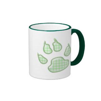 ginghamhundtass - grönt ringer mugg