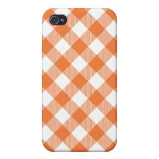 GinghamIphone 4 för korall ro vävt fodral iPhone 4 Cover