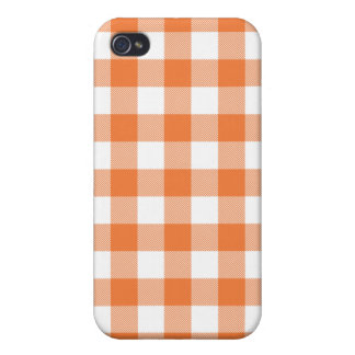 GinghamIphone 4 för korall ro vävt fodral iPhone 4 Skydd