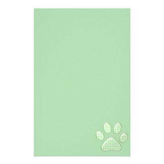 ginghamkatttass - grönt brevpapper