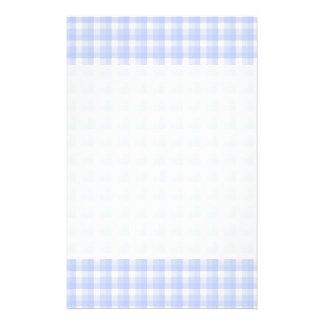 Ginghamkontrollmönster. Ljust - blått & White. Flygblad