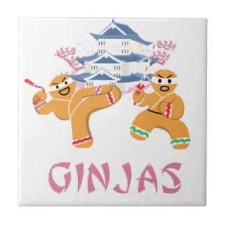 Ginjas Ninjas julNinja pepparkaka Kakelplatta