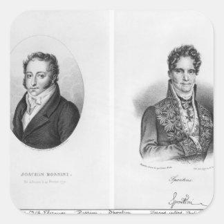 Gioacchino Rossini Gaspare som by inristas Fyrkantigt Klistermärke