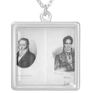 Gioacchino Rossini Gaspare som by inristas Silverpläterat Halsband