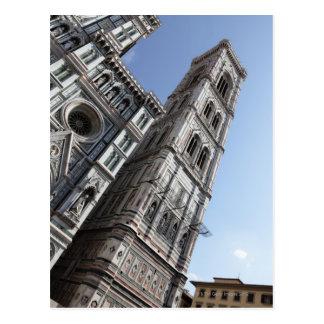 Giottos sätta en klocka på torn och Santa Maria Vykort