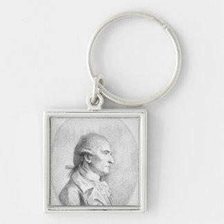 Giovanni Battista Cipriani, 1789 Fyrkantig Silverfärgad Nyckelring