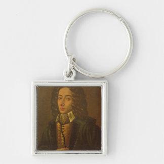 Giovanni Pergolesi Fyrkantig Silverfärgad Nyckelring