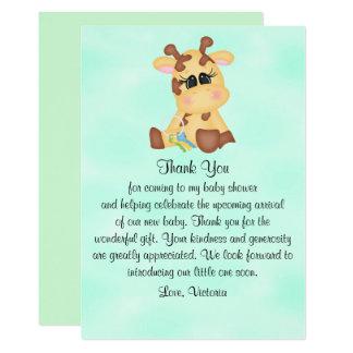 Giraff för baby showergenderneutralt 12,7 x 17,8 cm inbjudningskort