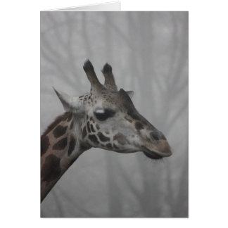 Giraff i dimman hälsningskort