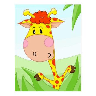 Giraff i gräs vykort