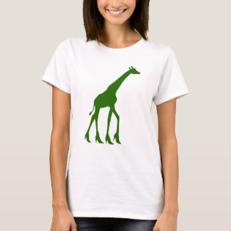 Giraff i högklackar t shirt