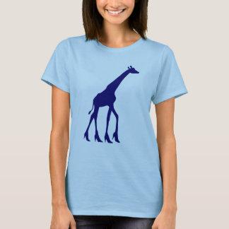 Giraff i högklackar t shirts