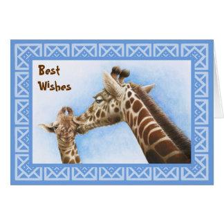 Giraff- & kalvfödelsedagkort hälsningskort