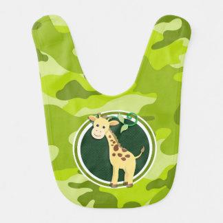 Giraff; ljust - grön camo, kamouflage hakklapp