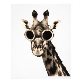 Giraff med Steampunk solglasögonGoggles Flygblad