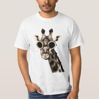Giraff med Steampunk solglasögonGoggles T Shirt