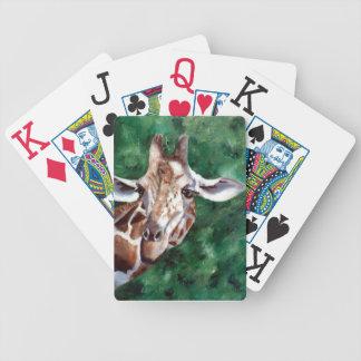 Giraff mig förmiddag upp här spelkort