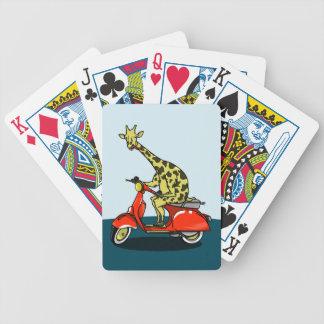 Giraff på en varad nedstämd vintage spelkort