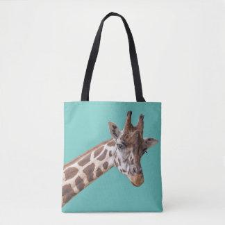 Giraff på krickagrönt tygkasse