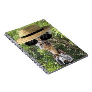 Giraff på semesteranteckningsboken anteckningsböcker