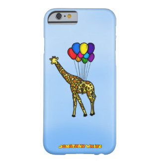 Giraff som bärs av ballonger barely there iPhone 6 fodral