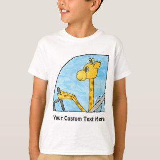 Giraff som kör en bil t-shirt
