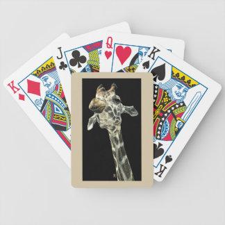 """Giraff som leker kort - """"haka upp """", spelkort"""