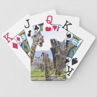 Giraff som skvallrar leka kort spelkort