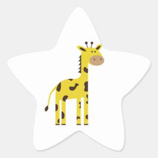 Giraff Stjärnformat Klistermärke