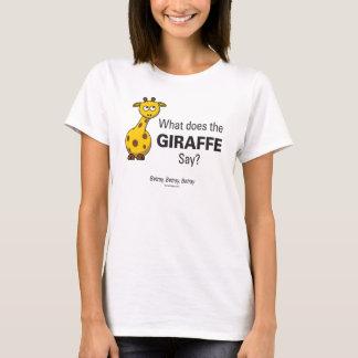 Giraffet förråder kvinna grundläggande tröjor
