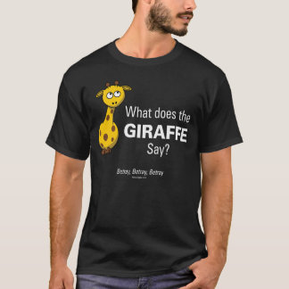 Giraffet förråder manar grundläggande svart t-shirt